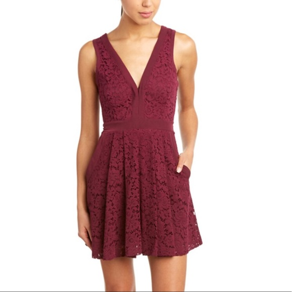 """b469867aa6 Free People Dresses   Skirts - Free People """"Lovely in Lace"""" Skater Dress"""